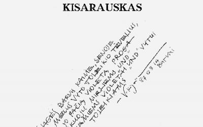 Vytautas Toleikis. Iš susitikimų (NŽ-A nr. 4)